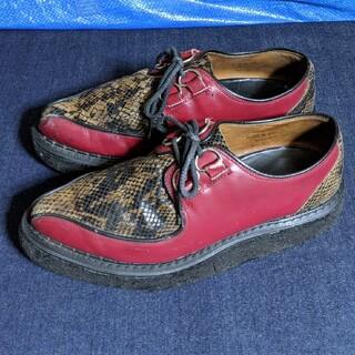 ジョージコックス(GEORGE COX)のGEORGE COXジョージコックス スネーク柄ラバーシューズ(ローファー/革靴)