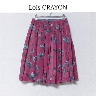 ロイスクレヨン(Lois CRAYON)の【ロイスクレヨン】花柄プリント プリーツスカート(ひざ丈スカート)