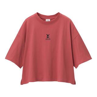 ジーユー(GU)のGU ポケモン クロップドTシャツ ピカチュウ(Tシャツ(半袖/袖なし))