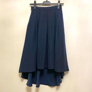 マウジー(moussy)のmoussy フレアスカート ネイビー サイズ1(ひざ丈スカート)