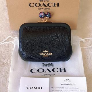 COACH - コーチ ノラ キスロック コインケース 小銭入れ がま口 ブラック ラメ