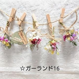 ドライフラワーガーランド☆16(ドライフラワー)