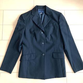 サンヨー(SANYO)のハートフォード 黒 ストライプ ジャケット 三陽商会 スーツ 試験 仕事(スーツ)