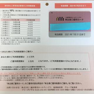 ミツコシ(三越)の株主優待カード(その他)