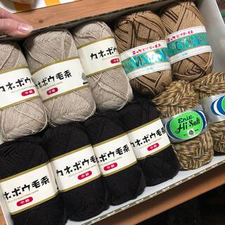 詰め合わせ 毛糸 ハンドメイド 編み物 マフラー セット 福袋(生地/糸)