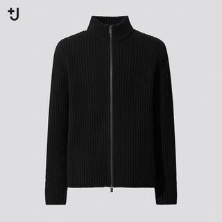 UNIQLO - ユニクロ ジルサンダー  ミドルゲージフルジップセーター
