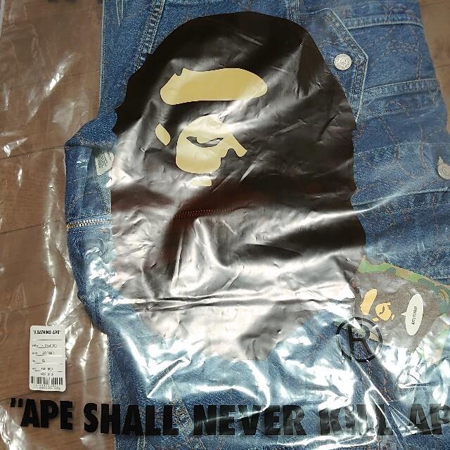 A BATHING APE(アベイシングエイプ)のBAPE  Levi's CAMO TRUCKER JACKET XLサイズ メンズのジャケット/アウター(Gジャン/デニムジャケット)の商品写真