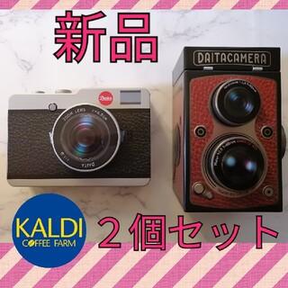 カルディ(KALDI)のカルディ KALDI カメラ缶 レフレックス缶 2個セット(菓子/デザート)
