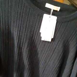 エージーバイアクアガール(AG by aquagirl)の未使用タグ付き紺ニットセ-タ-(ニット/セーター)