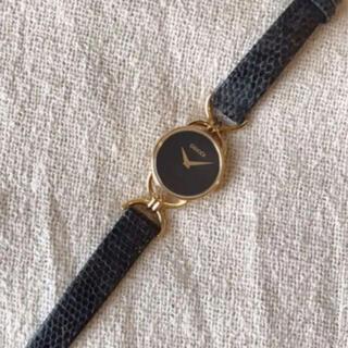 グッチ(Gucci)のGUCCIグッチシェリーライン黒ブラッククォーツ6000.2.Lアナログ腕時計(腕時計)