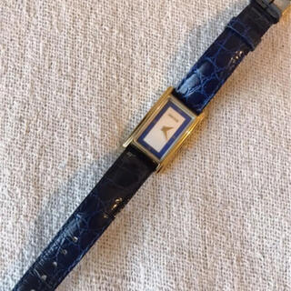 グッチ(Gucci)のGUCCIグッチシェリーラインネイビーブルークロコ2600.L腕時計(腕時計)