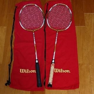 ウィルソン(wilson)のバドミントン ラケット ウィルソン レコンライト 2本セット 中古(バドミントン)