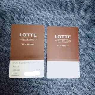 ロッテアライリゾート リフト券1日券2枚(スキー場)