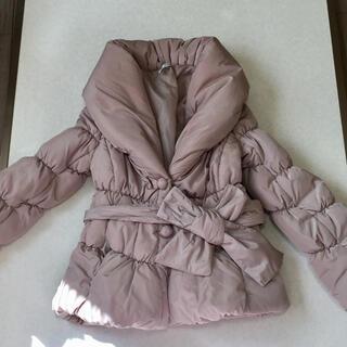 スコットクラブ(SCOT CLUB)の美品 ウエストリボン 着ぶくれしない ダウンコート ダウンジャケット(ダウンコート)
