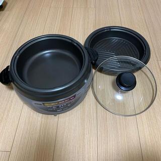 サンヨー(SANYO)のチタンコート 電気鍋 焼肉プレート(調理機器)