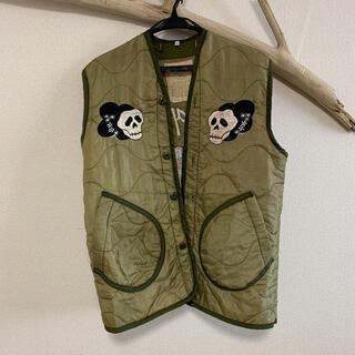 ポロラルフローレン(POLO RALPH LAUREN)のM-65 ライナー ベスト キルティング ミリタリー 刺繍(ミリタリージャケット)