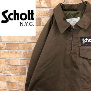 ショット(schott)の☆ショット☆USA製 中綿ハーフジッププルオーバー ブラウン ジャケット(その他)