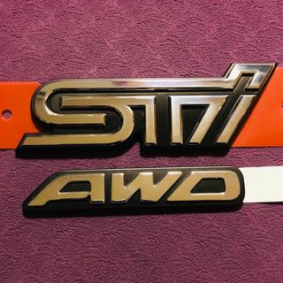 スバル(スバル)のSUBARU スバル STIエンブレム & 旧AWD エンブレム オーナメント(車外アクセサリ)