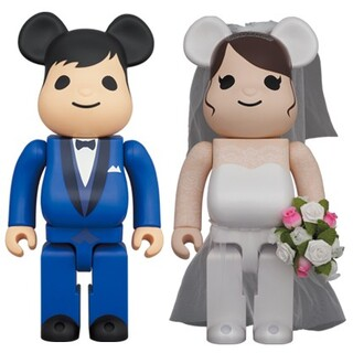 メディコムトイ(MEDICOM TOY)のBE@RBRICKグリーティング結婚4PLUS 400%&100%セット(キャラクターグッズ)