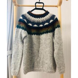 【美品】アイスランドニット セーター ウール100%   北欧ファッション(ニット/セーター)