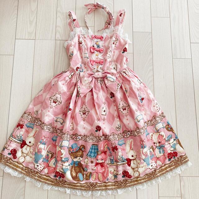 Angelic Pretty(アンジェリックプリティー)のAngelic Pretty Wonder Toy jsk カチューシャ セット レディースのワンピース(ひざ丈ワンピース)の商品写真