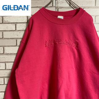 GILDAN - 90s 古着 ギルダン スウェット 刺繍 ビッグシルエット ゆるだぼ
