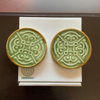 ジェンガラ(Jenggala)の【ベル様】ジェンガラケラミック 陶器コースター 2個セット Jenggala ②(食器)