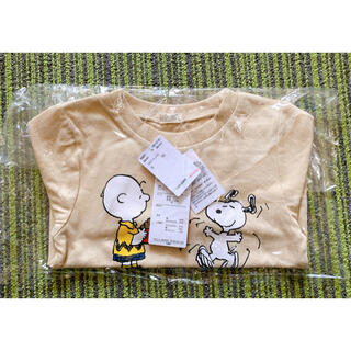 スヌーピー(SNOOPY)の【新品未使用】SNOOPY柄の長袖シャツ 80サイズ(Tシャツ)