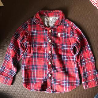 coen - コーエンキッズ 110 ネルシャツ チェックシャツ