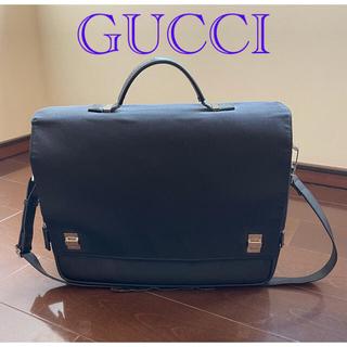 Gucci - GUCCIグッチ 2way ブリーフケース ビジネスバッグ ナイロン x レザー