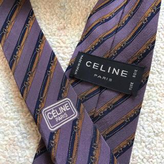 celine - 【本日限定お値下げ】CELINE ネクタイ セリーヌ くすみパープル