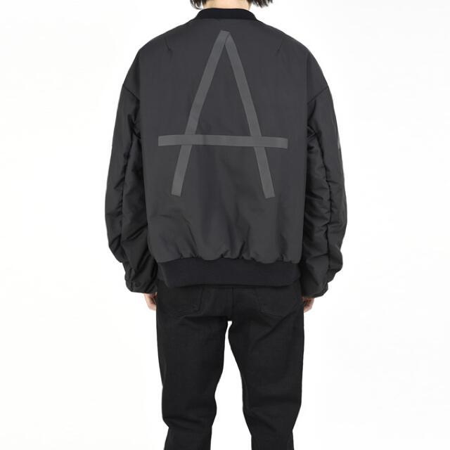 LAD MUSICIAN(ラッドミュージシャン)のlad musician ma-1ブルゾン ブラック ラッドミュージシャン メンズのジャケット/アウター(ブルゾン)の商品写真