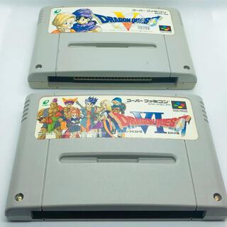 スーパーファミコン(スーパーファミコン)のドラゴンクエスト5、6セット スーパーファミコン(家庭用ゲームソフト)