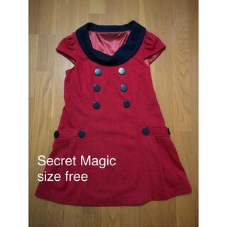 シークレットマジック(Secret Magic)のSecret Magic ワンピース レッド 赤(ひざ丈ワンピース)