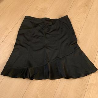 モルガン(MORGAN)のモルガン フレアスカート 黒 ブラック 36 S 7号 日本製(ひざ丈スカート)