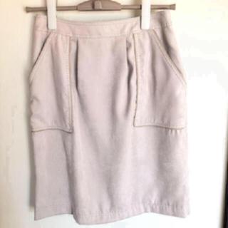 ロートレアモン(LAUTREAMONT)の新品未使用!LAUTREAMONT スエードスカート(ひざ丈スカート)
