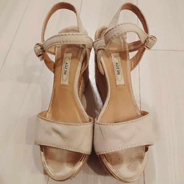 REZOY(リゾイ)のREZOY ウェッジソール ウェッジソールサンダル サンダル 靴 ベージュ M レディースの靴/シューズ(サンダル)の商品写真