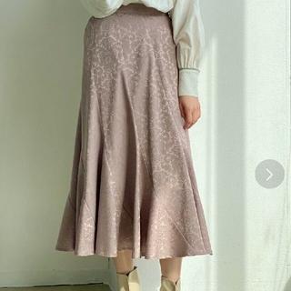 メリージェニー(merry jenny)のidemイデム★Jacquard Satin Mermaid Skirtベージュ(ロングスカート)