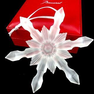 バカラ(Baccarat)のバカラ スノーフレーク 雪の結晶 クリスタル オーナメント 箱付き 17-371(置物)