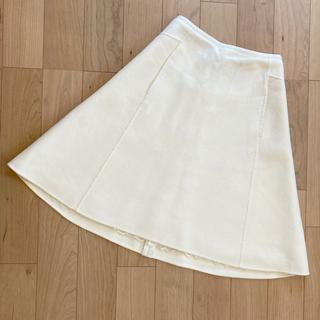 フォクシー(FOXEY)の今日まで値下FOXEY❤️フォクシー カシミヤ100 ホワイトスカート38(ひざ丈スカート)