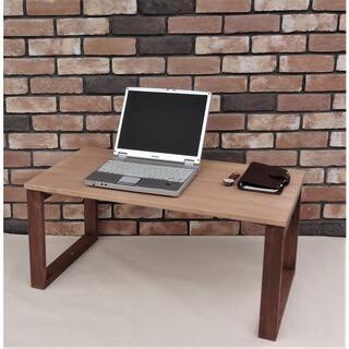 新品ハンドメイド パイン無垢材 2トーン折り畳み高級仕様ローテーブル(ローテーブル)