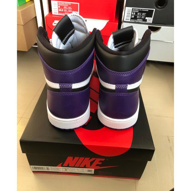 NIKE(ナイキ)のAIR JORDAN1 RETRO HIGH OG COURT PURPLE メンズの靴/シューズ(スニーカー)の商品写真