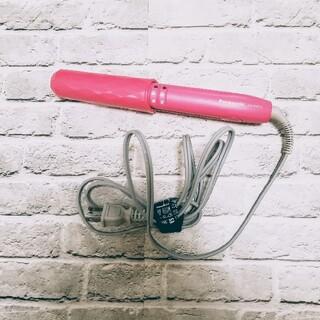 パナソニック(Panasonic)の美品◆Panasonic ヘアアイロン EH-HW13 ピンク ミニコテ(ヘアアイロン)
