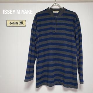ISSEY MIYAKE - イッセイミヤケ ISSEY MIYAKE ニット ジップニット 長袖 セーター