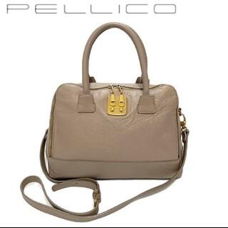 ペリーコ(PELLICO)のPELLICO ペリーコ 2way ハンドバッグ ショルダーバッグ  本革(ショルダーバッグ)