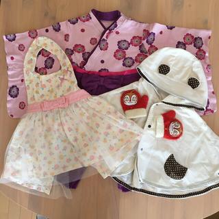 アンパンマン(アンパンマン)の❤️女の子袴❤️ドキンちゃん手袋と70〜80サイズまとめ売り(その他)