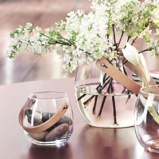 イデー(IDEE)の#01 Holmegaard ¥4,950 デンマーク レザーハンドル 新品(花瓶)