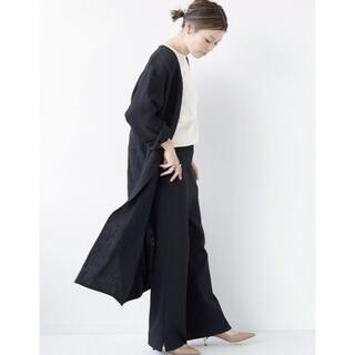 DEUXIEME CLASSE - ☆Deuxieme Classe☆washer linenコート黒☆新品タグ付☆