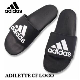 アディダス(adidas)の送料込み新品 アディダス 黒 アディレッタ 28.5センチ ブラック black(サンダル)