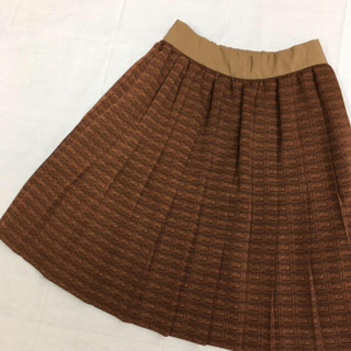 Q-pot. - q-pot スカート キューポット チョコレート カーデ